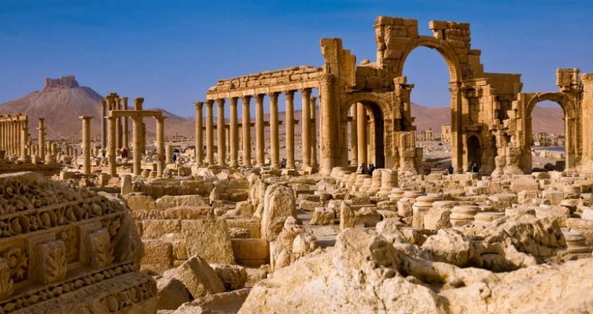 IŞİD'in elinden alınan Palmira kentinin son görüntüleri yayınlandı