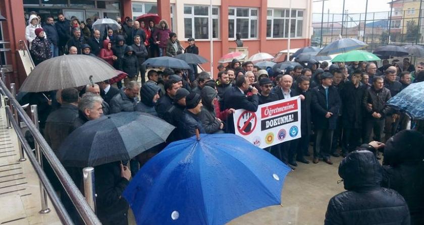 Ordu'da eğitimciye şiddet protesto edildi