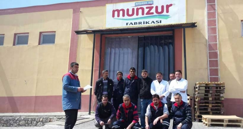 Munzur Su işçileri, kiralık işçiliğe karşı bildiri okudular