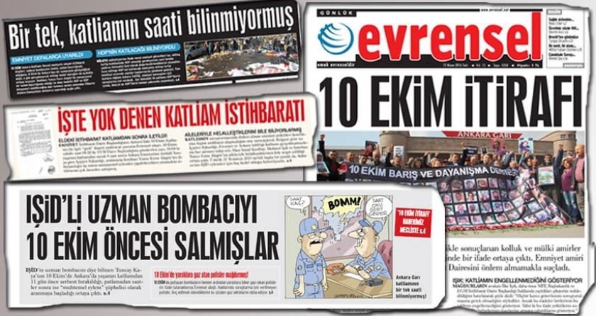 10 Ekim haberleri için Evrensel ve Cumhuriyet'e soruşturma