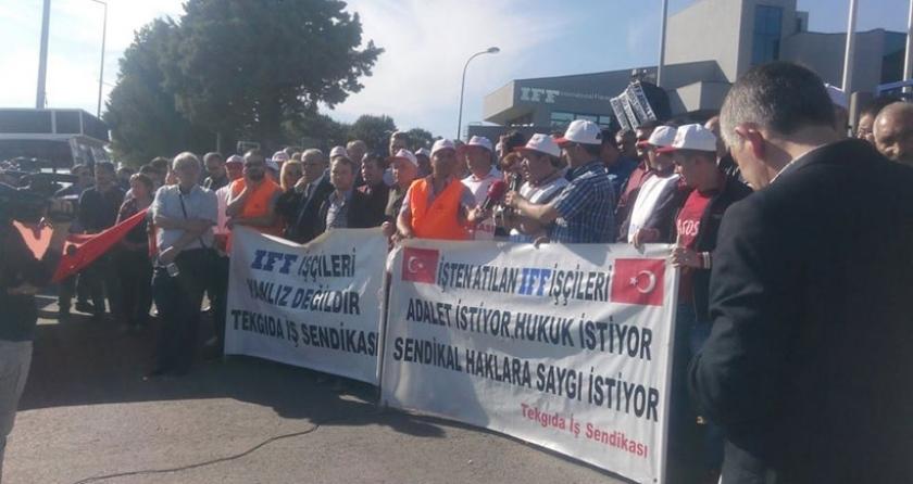IFF Aroma işçisi 'mücadeleye devam' dedi