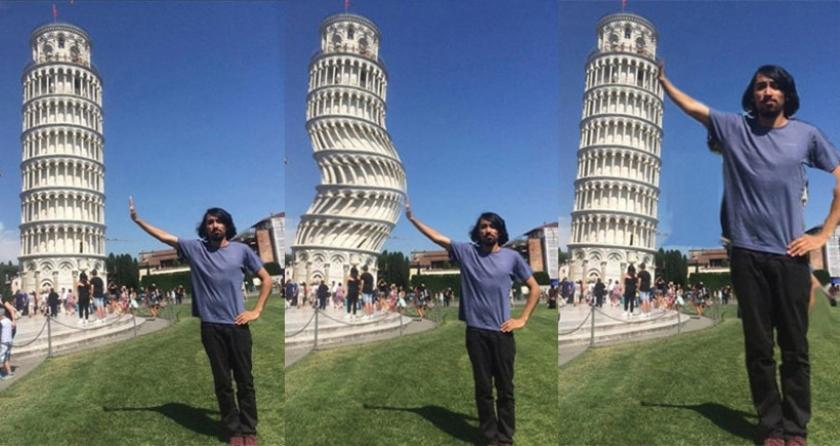 Pisa'ya değmek için yardım istedi, sosyal medya kurbanı oldu