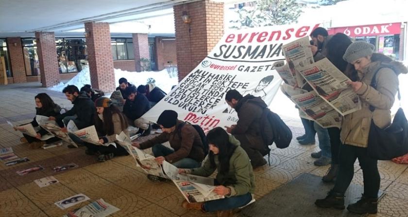 Anadolu Üniversitesi öğrencileri Metin Göktepe'yi andı