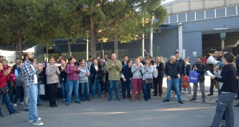 İşçi ölümlerine ve MESS'in dayatmalarına karşı çıktılar