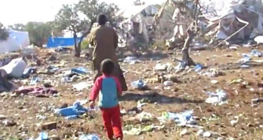 Mültecilerin kampına bomba