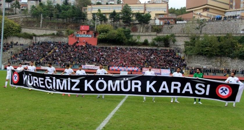 Zonguldak Kömürspor'dan anlamlı pankart