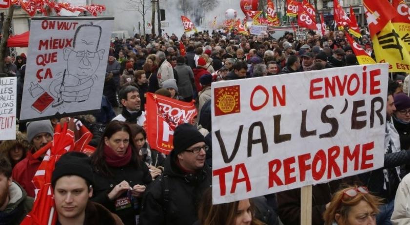 Fransa'da yeni iş yasasına karşı eylemler sürüyor