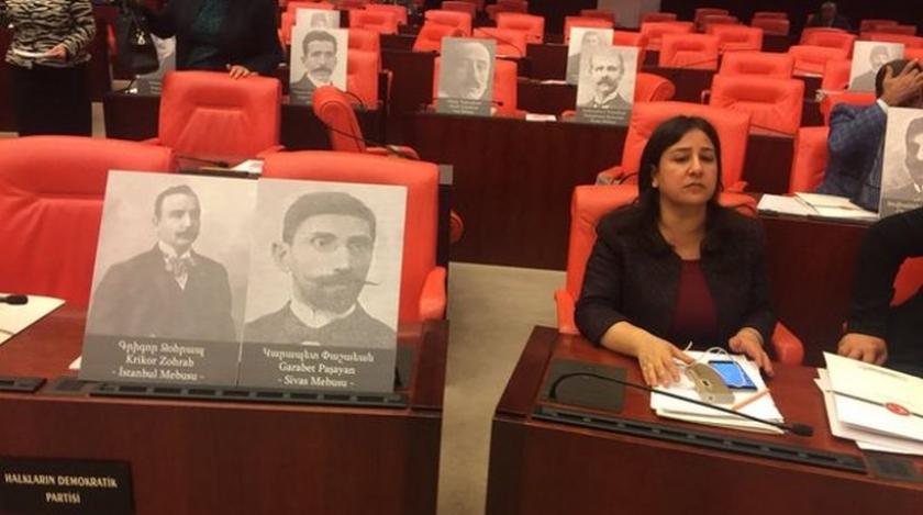 Soykırımda katledilen Ermeni mebusların resimleri TBMM'de