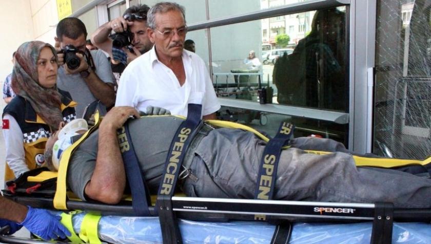 Cami inşaatında iskeleden düşen işçi yaralandı