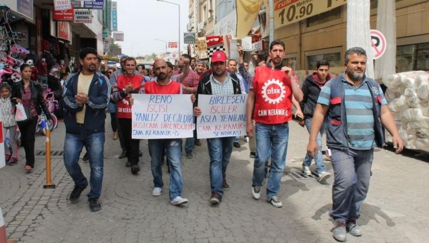 Dostcam işçileri dayanışma için yürüdü