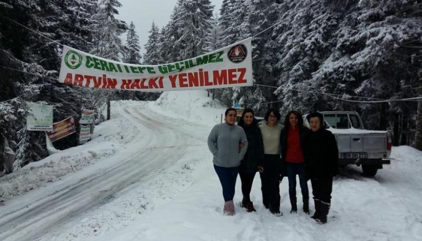 Devlet direnen Artvinlilere kış sporu yaptırdı!