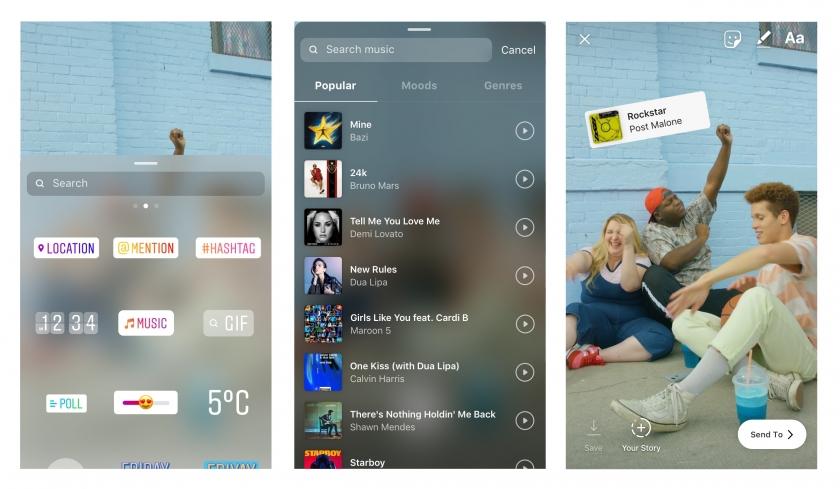 Instagram Hikayeler'e müzik eklenebilecek