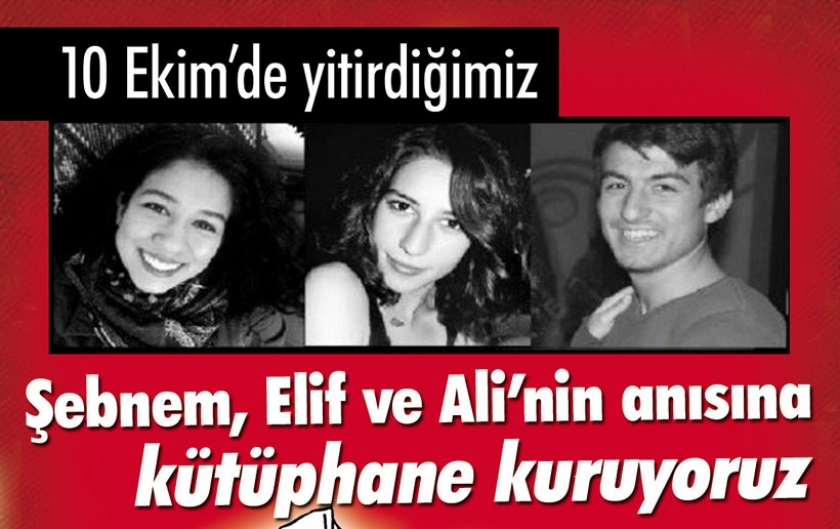 Şebnem Yurtman, Elif Kanlıoğlu ve Ali Deniz Uzatmaz adına kütüphane kuruluyor