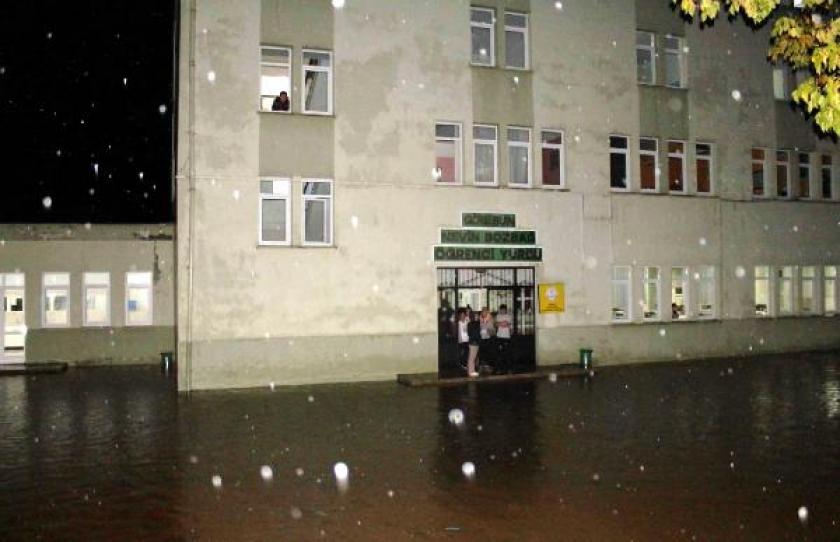 Giresun'da yağış etkili oldu
