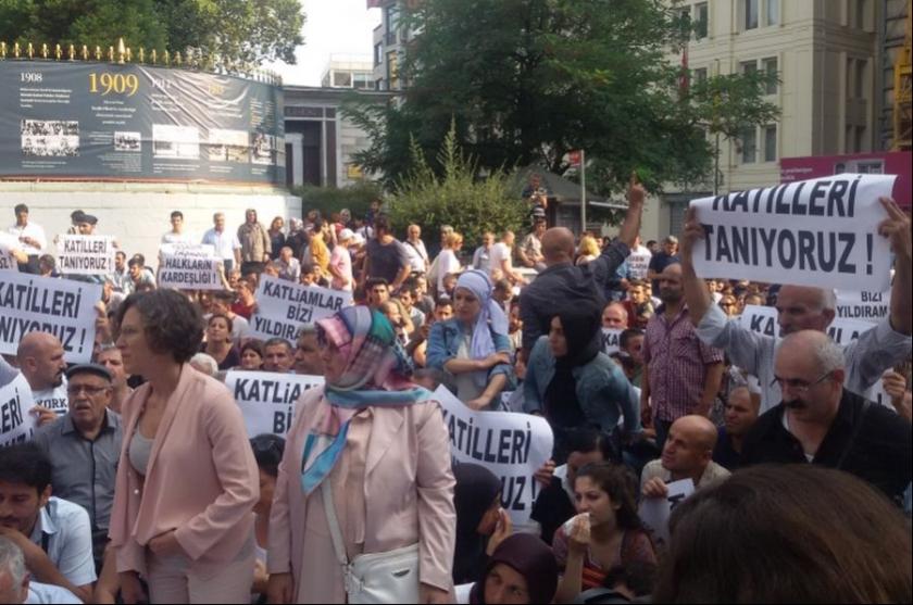 Antep katliamı İstanbul'da protesto edildi