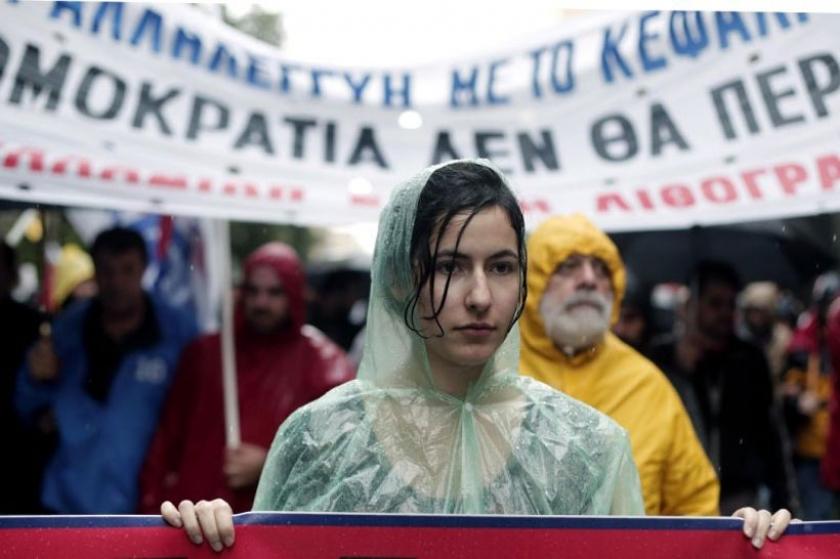 Yunanistan'da işsizler, saldırı politikalarını 216 km'lik yürüyüşle protesto etti