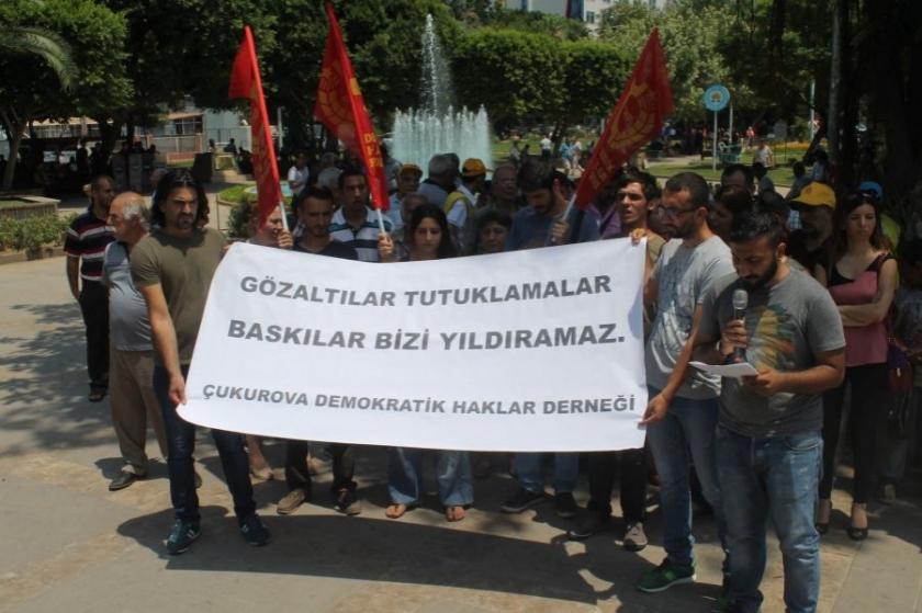 DHF, tutuklamaları protesto etti