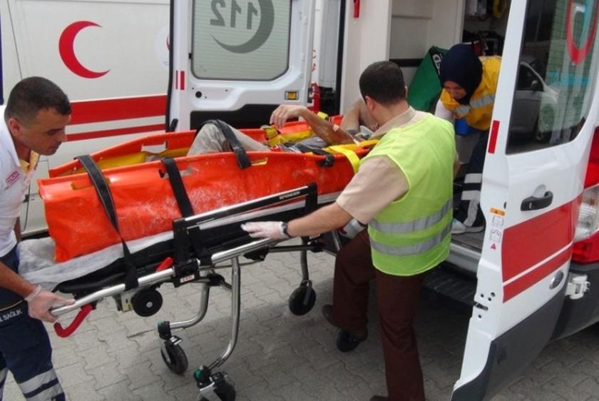 Çorum'da hastane inşaatında düşen işçi ağır yaralandı