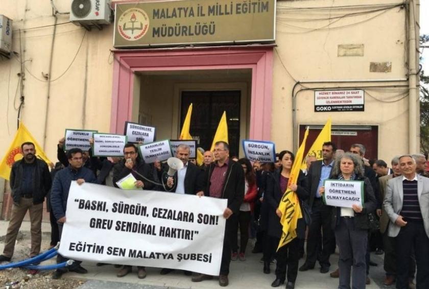 Malatya'da eğitim emekçilerine dönük baskılara tepki