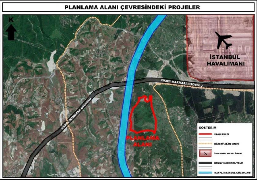 İstanbul'un kuzeyinde 2,7 milyon metrekare arazi imara açıldı
