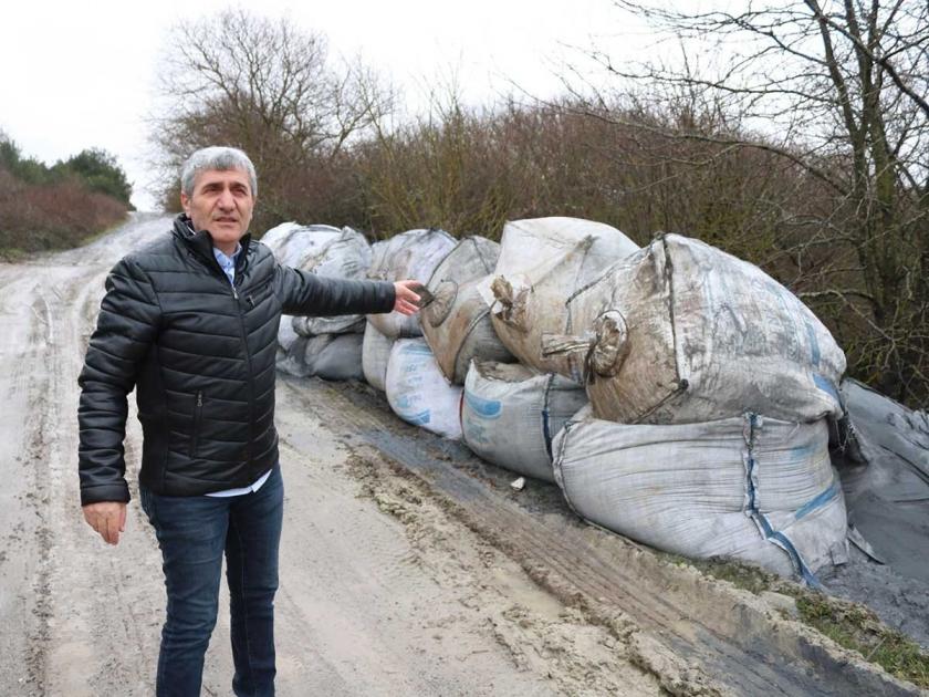 Çerkezköy'de 29 çuval 'kimyasal atık' çevreye atıldı iddiası