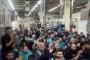 Metal fabrikalarında işçiler üretime 15 dakika ara verdi