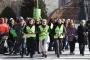 3 kadın, çocuk ve kadın hakları için yürüyor