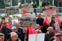 Turhal Şeker Fabrikası önünde özelleştirme karşıtı koalisyon