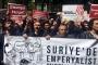 Suriye saldırısı Fransa Konsolosluğu önünde protesto edildi