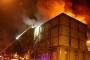 İkitelli'de Ayakkabıcılar Sitesi'nde yangın