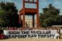 BM önünde nükleer silah karşıtı gösteri