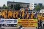 Yüzlerce deri ve tekstil işçisi yerel 1 Mayıs kutlaması yaptı