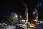 Beton mikseri yüksek gerilim hattına çarptı: 5 işçi yaralı