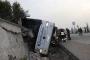 Kütahya'da yolcu otobüsü devrildi: 1 ölü, 10'dan fazla yaralı