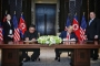 Tarihi ABD-Kuzey Kore zirvesinde imzalar atıldı