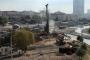Göztepe'de iş makinesi doğalgaz borusunu deldi
