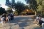 Yarış pisti için dökülmek istenen asfalta karşı nöbet sürüyor