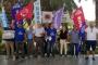 KESK'liler direnişteki İmar AŞ işçilerini ziyaret etti