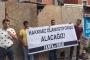 Ücretleri ödenmeyen inşaat işçileri eylem yaptı