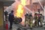 Bağcılar'da doğalgaz borusu patladı