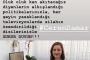 Deniz Çakır'dan Akademisyen Ceren Damar'ın öldürülmesine tepki