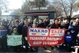 Makro Market işçileri, haklarını alabilmek için eylemlerini sürdürüyor