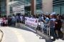 Diyarbakır'da sağlık çalışanının şiddete maruz kalması protesto edildi