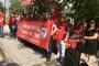 İşten atılan Evrensekiz Belediyesi işçilerinden belediye önünde protesto eylemi