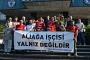 Buca Belediyesi işçilerinden Aliağa işçilerine destek