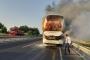 Balıkesir'in ardından Manisa ve Çeşme'de de otobüs yandı