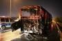 Ümraniye'de seyir halindeki otobüste yangın çıktı