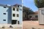 Okul inşaatı bitmedi, öğrenciler cami avlusundaki konteynerlerde eğitim görüyor