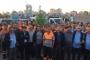 Ataşehir Belediyesi işçileri, ücretlerin geç ödenmesi üzerine işe 2 saat geç başladı