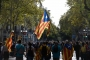 Katalonya'da genel grev: On binlerce kişi bağımsızlık talebiyle sokaklara çıktı